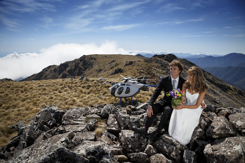 Mountain top New Zealand Wedding Package