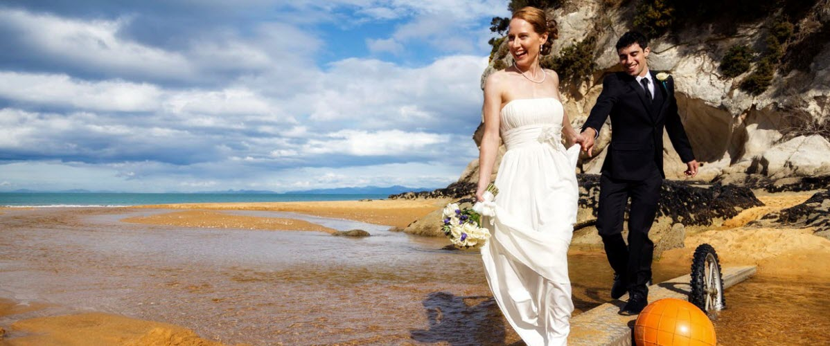 Adele Island Abel Tasman Park Wedding - New Zealand Wedding Packages