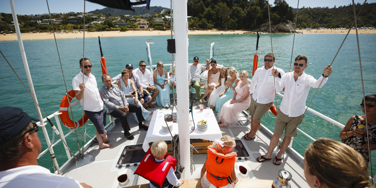 New Zealand Wedding Packages Package Yacht